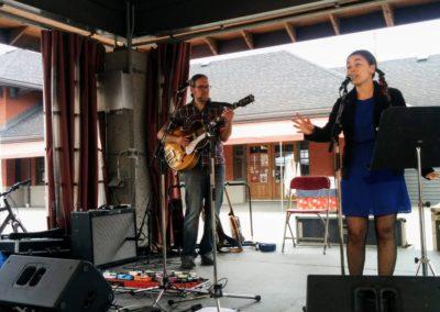 Marianne V et J-F Tremblay en spectacle pour le OFF Festival des harmonies de Sherbrooke le 1er juin 2019